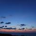 海辺の夕闇空