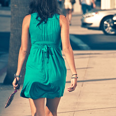 Girl in green (manganite) Tags: california street city girls summer people urban usa hot color sexy green ass topf25 colors beautiful fashion closeup digital america square geotagged fun la back losangeles cool xpro topf50 nikon women colorful pretty hand seasons dress arm tl candid young lifestyle sunny onecolor beverlyhills backside d200 nikkor dslr gals miniskirt rodeodrive thecolorgreen 18200mmf3556 utatafeature manganite nikonstunninggallery repost1 date:year=2008 date:day=2 date:month=august geo:lat=34069012 geo:lon=118403129 format:orientation=square format:ratio=11 repost2