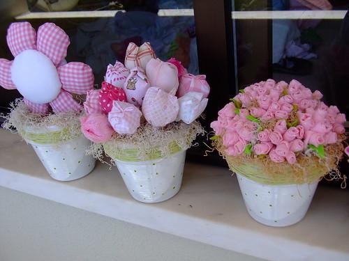Decoração infantil,Flores em tecidos!!