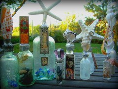 Altered Bottle Art - Shell Bottles (Terry.Tyson) Tags: art assemblage craft imadethis alteredart bottleart naturecraft