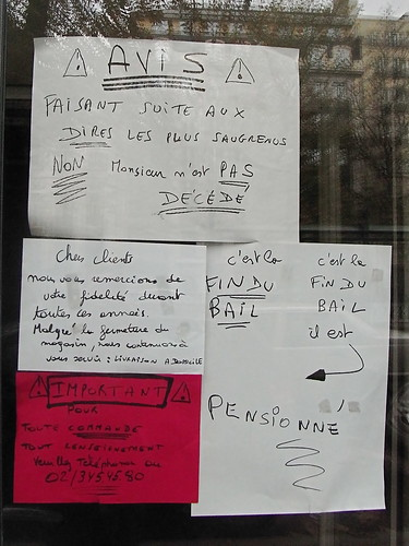 End of the Shop Around the Corner: window display in Brussels
