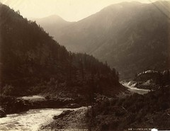 William Notman - Fraser Canyon below North Bend, BC, 1887 (The Patrick Montgomery Collection) Tags: river britishcolumbia frasercanyon albumenprint 1880s 1887 notman