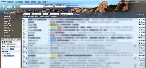 Gmail背景主題