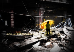 Sichuan Earthquake 2008 (PhilipZeplin) Tags: china boy art photoshop photo earthquake graphics manipulation spirits lightning sichuan 2008 philip cs3 zeplin flickrsfinest