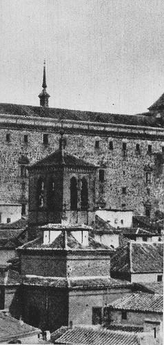 Iglesia de la Magdalena y Alcázar de Toledo antes del asedio en 1936