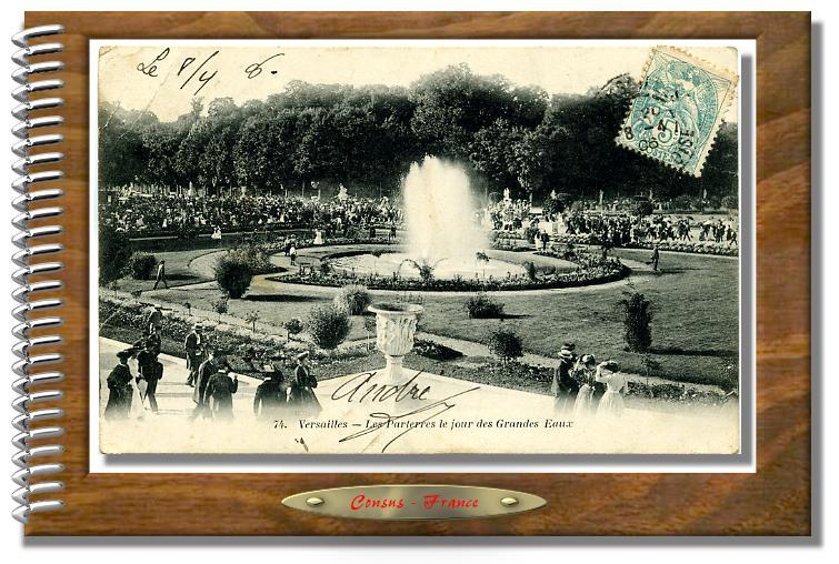 74. Versailles - Les Parterres le jour des Grandes Eaux