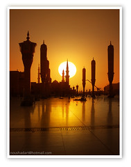 The Prophet's Mosque in Sunrise.. (ArabianLens.com) Tags: muslim islam mosque saudi arabia  prophets    madinah
