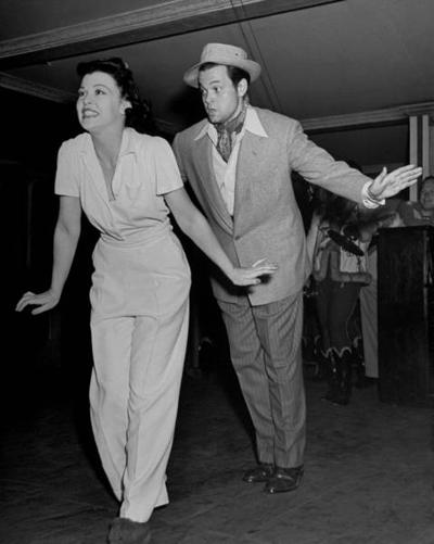Suzanne Ridgeway y Orson Welles en 1940