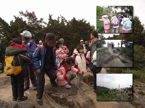 你拍攝的 15登上虎山稜線步道前的砂岩。