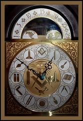 Masonic Clock (The Delaruelles) Tags: musictomyeyes hiddentreasure beautifulshot photographyrocks flickrbronze styleofframedpics photographersgonewild masonicworld