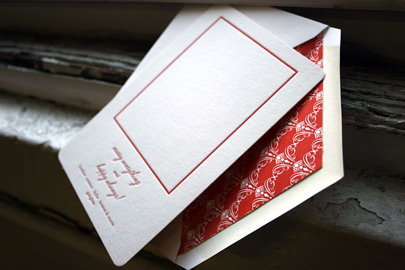 Letterpress holiday card - bamboo paper - Smock