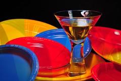 Imagine Color (floralgal) Tags: wild stilllife abstract color glass reflections martini brightcolors martiniglass cocktails colorexplosion boldcolors removedfromamazingcolorsgroupinvitenotdetected coloredplasticplates