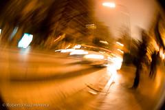 i feel dizzy (Berts @idar) Tags: calle zaragoza velocidad abstracto callejeando espaa peleng8mmfisheye canoneos400ddigital ojosajenos ojosajenoscom