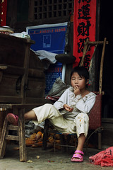 Laid back (Nian ) Tags: china girl kid village chinese  guizhou miao minority     layback  chinesegirl