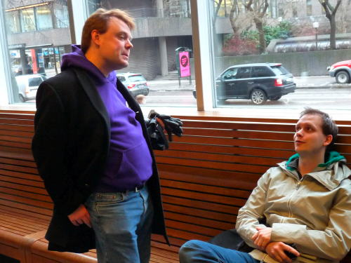 Rick Falkvinge & Peter Sunde @ Pirate Bay Trial