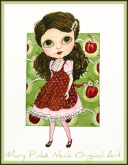 La Belle Cherr (dog.happy.art) Tags: original cute illustration ink watercolor painting artwork doll very you drawing your handpainted blythe makes ~ happyart mpn worldart blytheart blythe ~illustration nowcharacter designblythifulblythe drawingsblythe