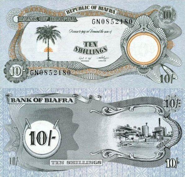 10 Libra Biafra 1968-69