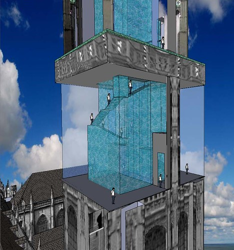 Antwerp Cathedral Water Tower Close-up