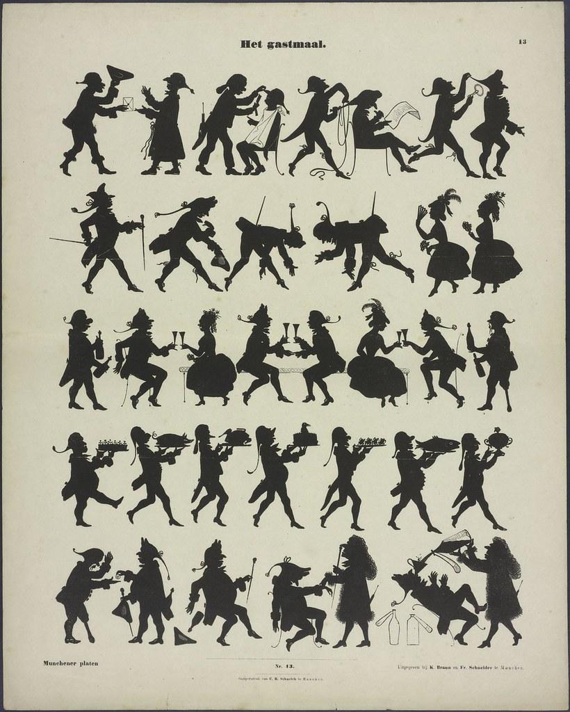 Het gastmaal by CR Schurich 1848-1929