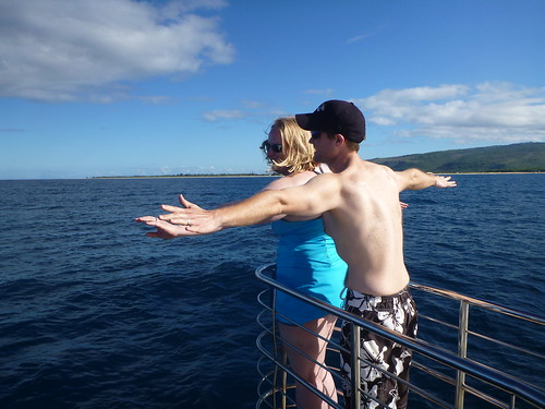 Stacia and Me Cruising the Na Pali Coast