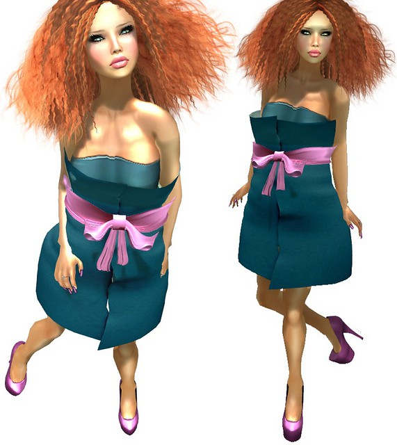 *LpD* - *Paper* Dress Blue For Chic Boutique