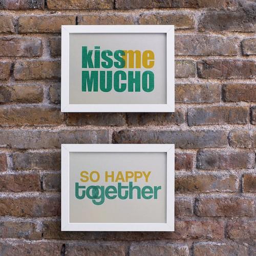 So happy together. 2 Screenprints, 5.8 x 8