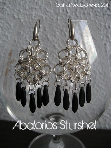 Pendientes Chainmaille Japanese 8-1 con dagas
