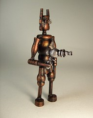 Steampunk Evil Robot Firing Retro Ray Gun Wood Statue 2 (Builders Studio) Tags: wood fiction sculpture mars art classic self trek comics toy death star punk gun ray technology hand geek arm tech space painted side alien rifle science ufo retro steam nasa replica weapon pistol scifi laser stunner pulp wars rogers buck defense prop martian geekery raygun invaders blaster phaser steampunk