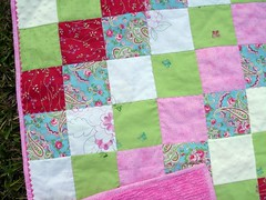 girly patchwork quilt detail