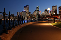 Sydney Twilight (Xenedis) Tags: city skyline bridge twilight dusk sydneyharbour dawespoint bluehour sydney night evening newsouthwales nsw australia fh ig