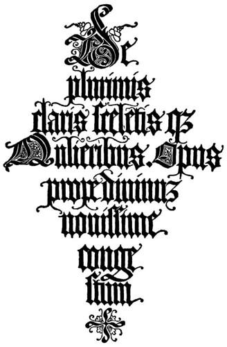 Letras en negrita Jacopus Foresti 1497