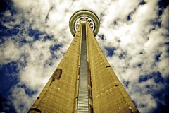 Up & ... (the_anim8r) Tags: blue sky urban toronto ontario canada color building monument up architecture clouds canon concrete vanishingpoint spring cntower looking perspective lookingup tall 400d rebelxti anawesomeshot goldstaraward cccunanimous