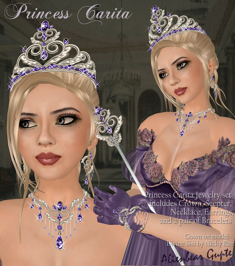 Princess Carita purple poster