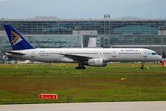 Air Astana Boeing 757-2G5 P4-EAS (16379) (Thomas Becker) Tags: plane germany airplane geotagged deutschland airport nikon hessen frankfurt aircraft boeing d200 tamron spotting 757 fra ltu 200500 fraport b757 rheinmain 757200 eddf b757200 airastana aerotagged b7572g5 081003 7572g5 aero:series=200 aero:man=boeing aero:model=757 aero:airport=eddf aero:airline=kzr damug 241098 080518 p4eas cn29488 ln830 311098 geo:lat=50039323 geo:lon=8596877 aero:tail=p4eas