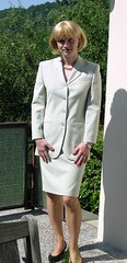 Grey Suit (Marie-Christine.TV) Tags: lady tv feminine tgirl business suit transvestite secretary feminin businesswoman kostm mariechristine skirtsuit sekretrin womans