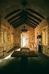 Chapel interior (macropoulos) Tags: film church topf25 cemetery 500v20f superia interior chapel greece crete soe canoneos3 fujisuperia200 themoulinrouge mywinners 30faves30comments300views vivitar20mmf38 betterthangood neaalikarnassos