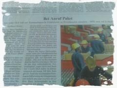 Welt-Artikel: Bei Anruf Paket