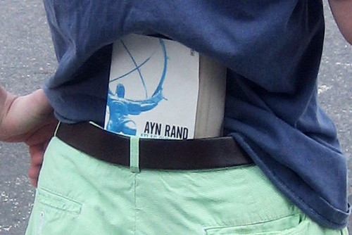 Ayn Rand in waistband detail