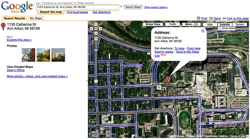Google Maps: Ann Arbor Street Views: Medical School