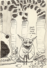 Yoda sketchbook page 79 - Alex Cox
