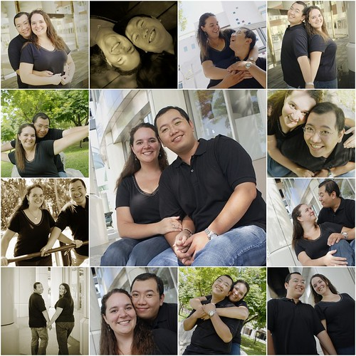 Engagement Photo Mosaic