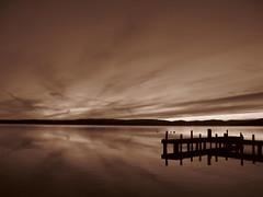 G9 In Camera Sepia (Nammo) Tags: sunset canon belmont australia powershot nsw untouched g9 nammo squidsink