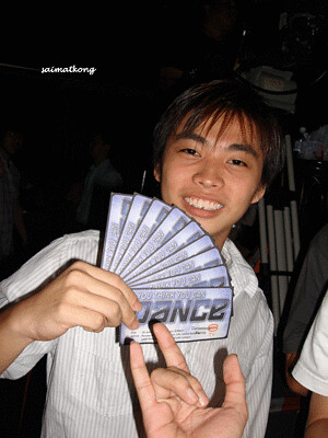 Woei Kang with So U Think U Can Dance Tickets