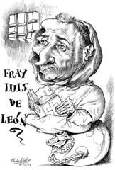 Fray LUIS DE LEN (Morales de los Ros) Tags: writers caricaturas philosophers caricatures escritores filsofos