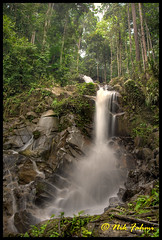 Waterfall II (Nik Fahmi) Tags: trees nature water forest waterfall rainforest rocks stream picnic malaysia canonef24105mmf4lisusm negerisembilan canoneos1dmarkiii greeneries jeramtoi nikfahmi