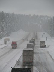 Winter driving on I-84 at Meacham Hill Oregon by OregonDOT on Flickr!