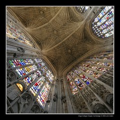 Kings College Chapel, Cambridge (Heaven`s Gate (John)) Tags: uk cambridge england art history church stone architecture cathedral religion gothic chapel stainedglass icon kingscollege perpendicular fanvault 100faves 50faves 10faves 25faves johndalkin heavensgatejohn aplusphoto top20travel goldenvisions