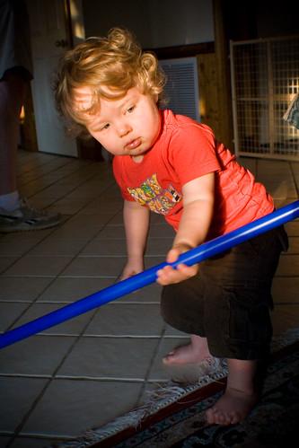 Ian and the Broom