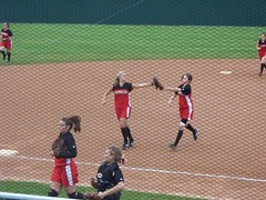 high 5 (Lcrward) Tags: girls rachel tx highschool highfive softball fastpitch hs shortstop