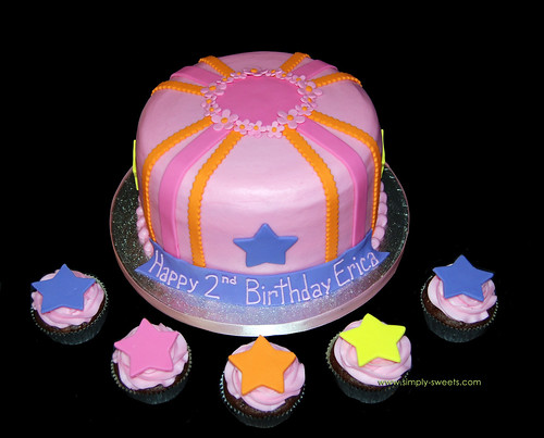 Dora themed cake and cupcakes copy